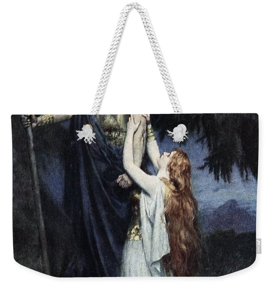 Brunhilde Knelt At His Feet, From The Weekender Tote Bag