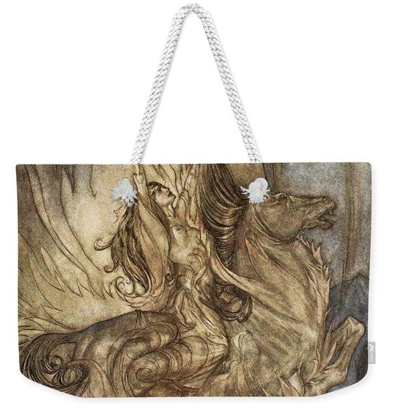 Brunnhilde On Grane Leaps Weekender Tote Bag
