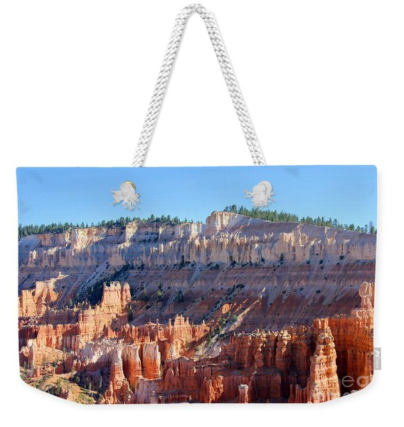 Weekender Tote Bag featuring the photograph Bryce Amphitheater by Jemmy Archer