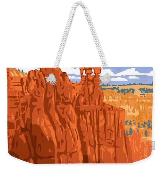 Bryce Canyon National Park Vintage Poster 2 Weekender Tote Bag