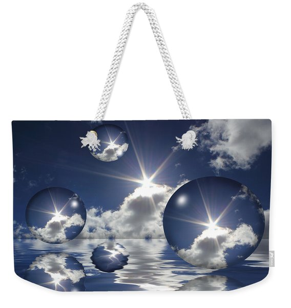 Bubbles In The Sun Weekender Tote Bag