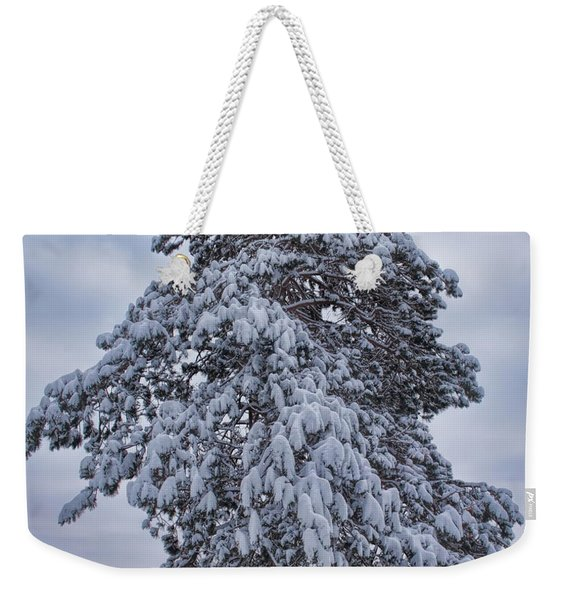 Buck Lake Flocked Pine Weekender Tote Bag