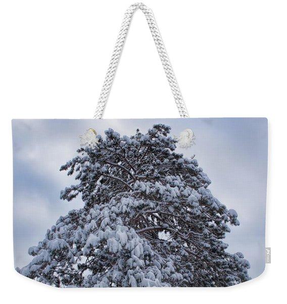 Buck Lake Flocked Pine Weekender Tote Bag