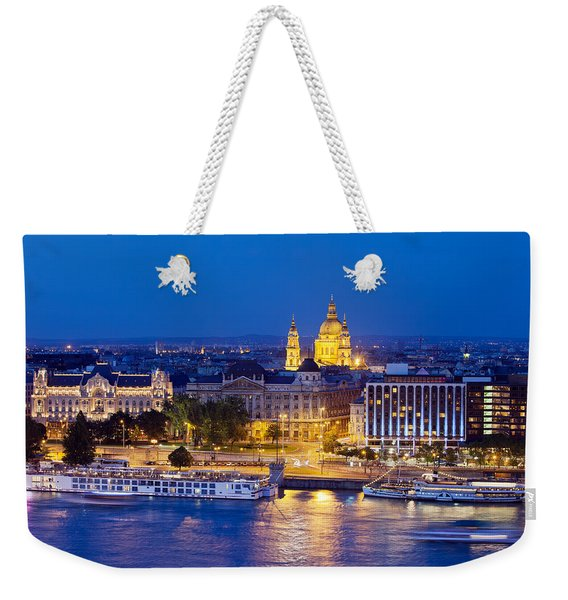 Budapest At Night Weekender Tote Bag