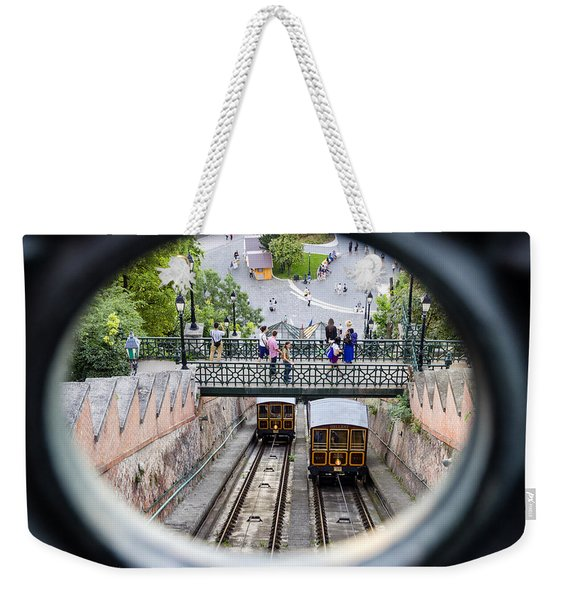 Budapest Castle Hill Funicular Weekender Tote Bag