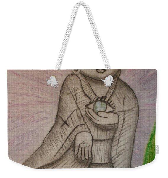 Buddha And The Eye Of The World Weekender Tote Bag
