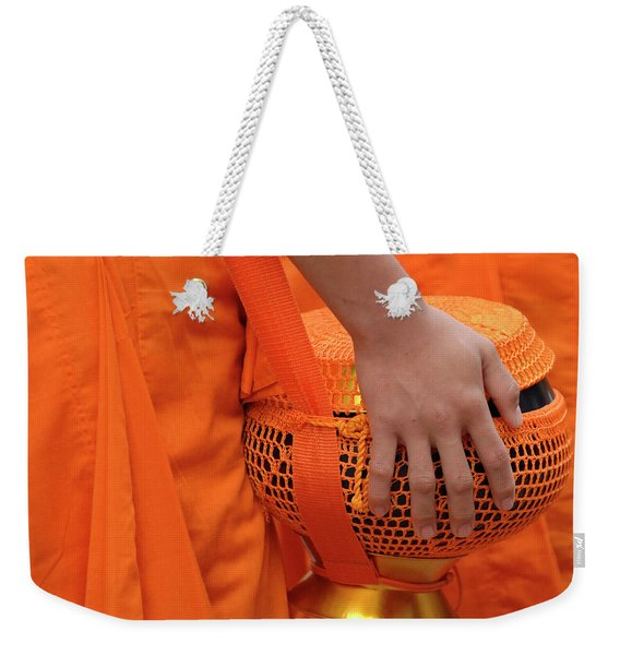 Buddhist Monks Hand Weekender Tote Bag