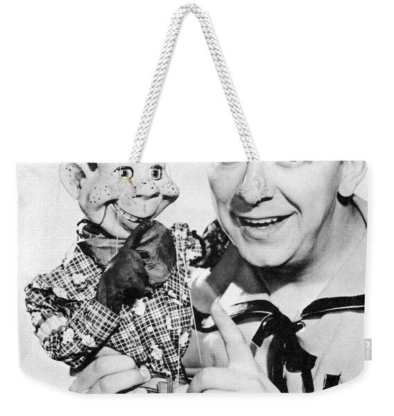 Buffalo Bob And Howdy Doody Weekender Tote Bag