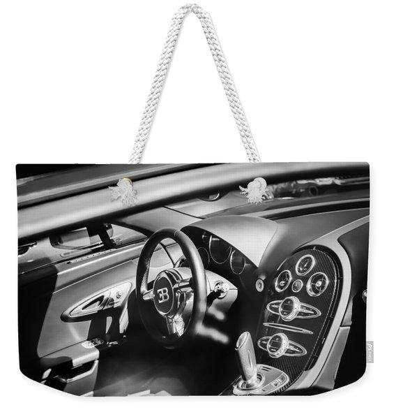 Bugatti Veyron Legend Steering Wheel -0484bw Weekender Tote Bag