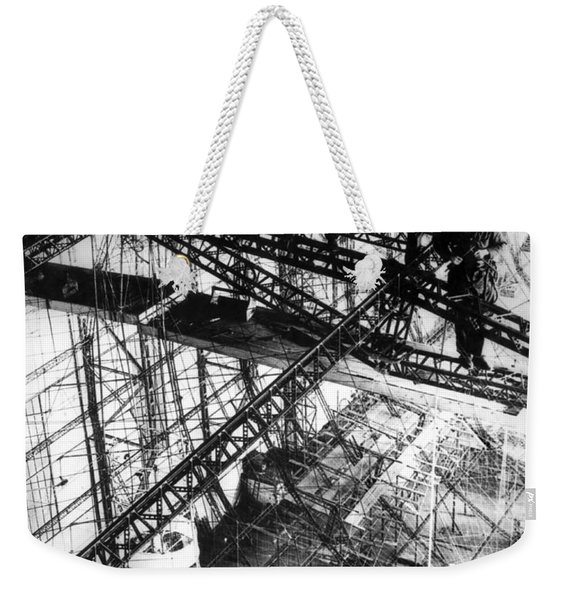 Building Of The Hindenburg Weekender Tote Bag