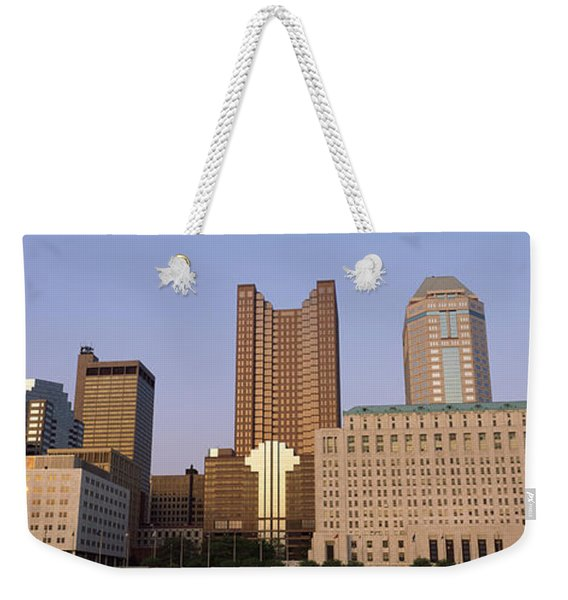 Buildings In A City, Columbus, Franklin Weekender Tote Bag