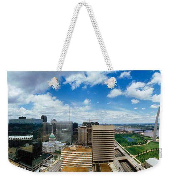 Buildings In A City, Gateway Arch, St Weekender Tote Bag
