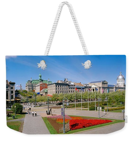 Buildings In A City, Place Jacques Weekender Tote Bag