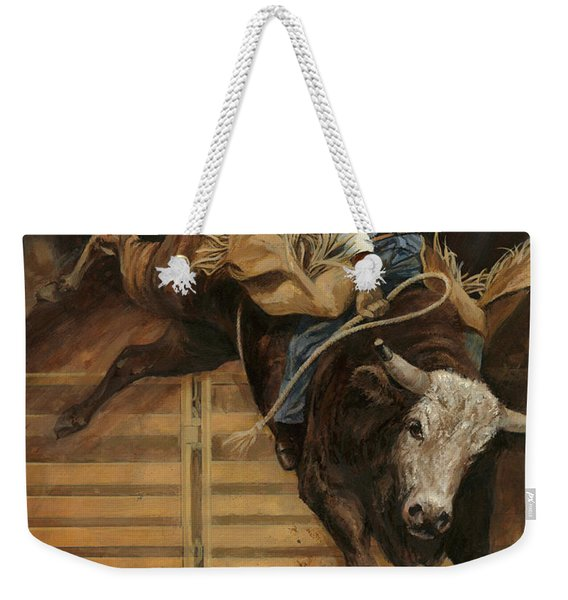 Bull Riding 1 Weekender Tote Bag