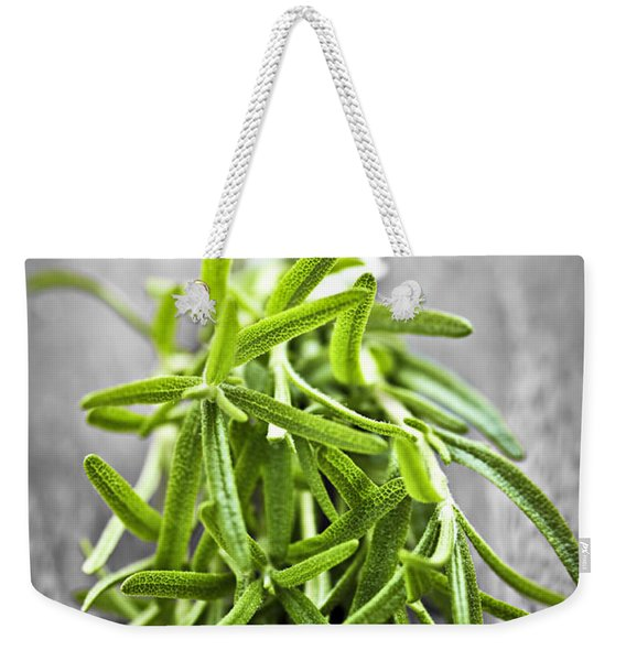 Bunch Of Fresh Rosemary Weekender Tote Bag
