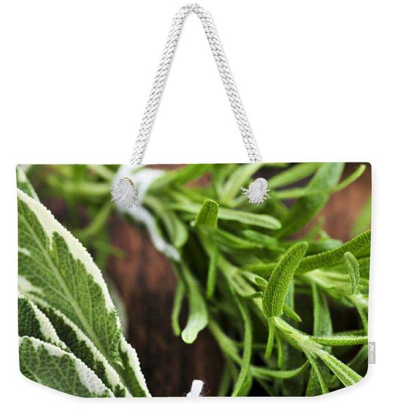 Bunches Of Fresh Herbs Weekender Tote Bag