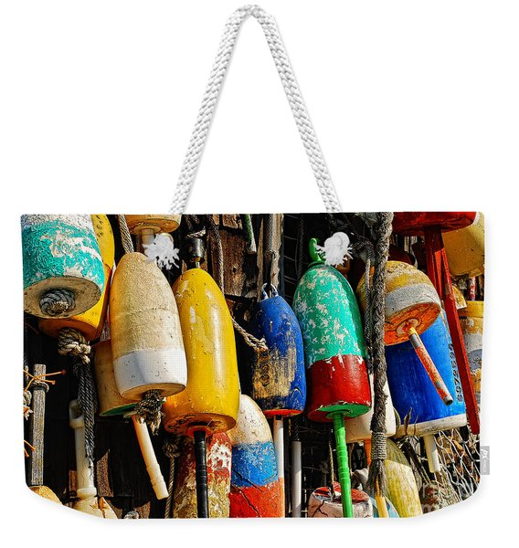 Buoys From Russell's Lobsters Weekender Tote Bag