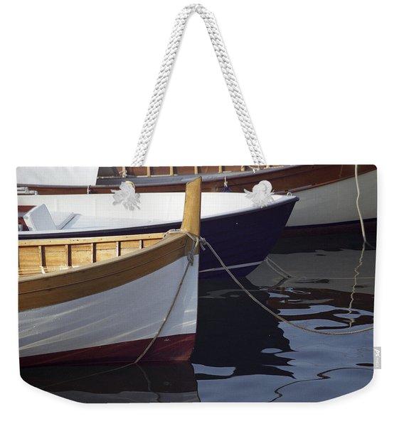 Burgundy Boat Weekender Tote Bag