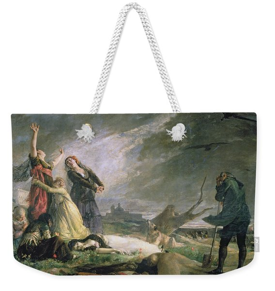 Burial At La Moncloa In May 1808 Oil On Canvas Weekender Tote Bag