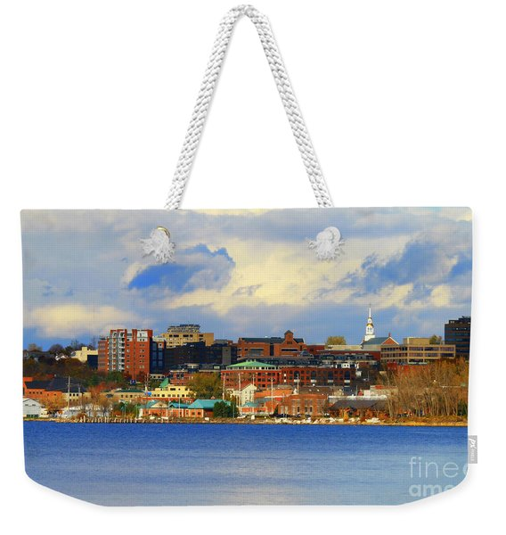 Burlington Vermont Lakefront Weekender Tote Bag