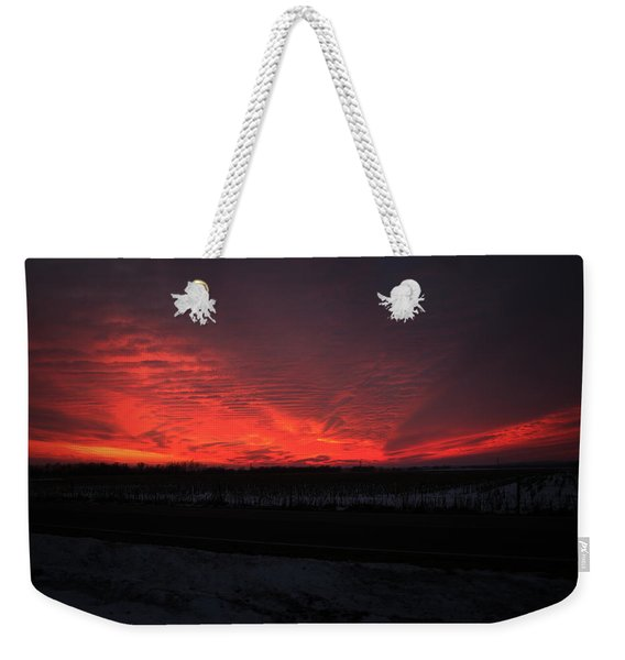 Burning Weekender Tote Bag