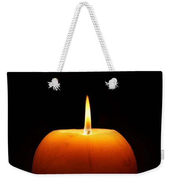 Burning Candle Weekender Tote Bag