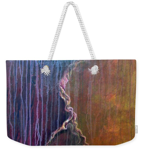 Weekender Tote Bag featuring the painting Burrow by Ashley Kujan