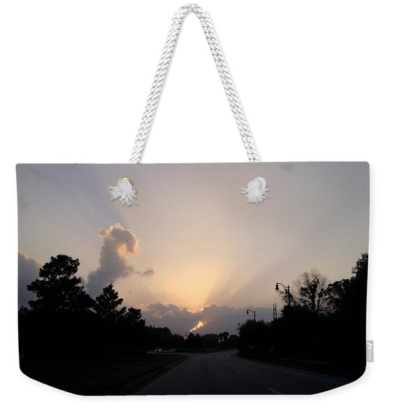 Burst Of Sunshine Over The Horizon Weekender Tote Bag