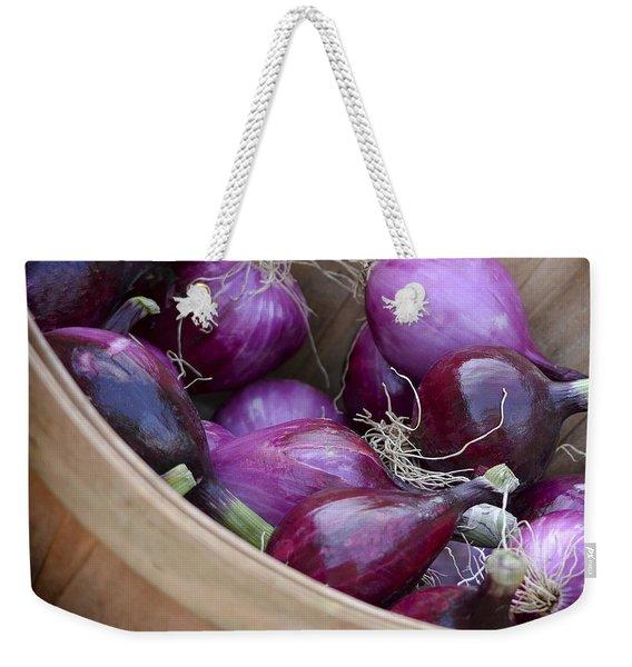 Bushel Of Red Onions Farmers Market Weekender Tote Bag