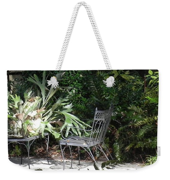 Bust In A Garden With Staghorn Fern Weekender Tote Bag