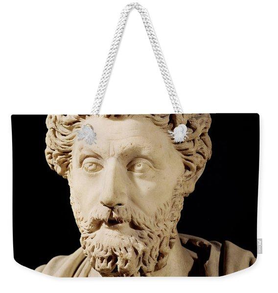 Bust Of Marcus Aurelius Weekender Tote Bag