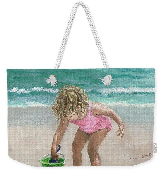 Busy Beach Girl Weekender Tote Bag