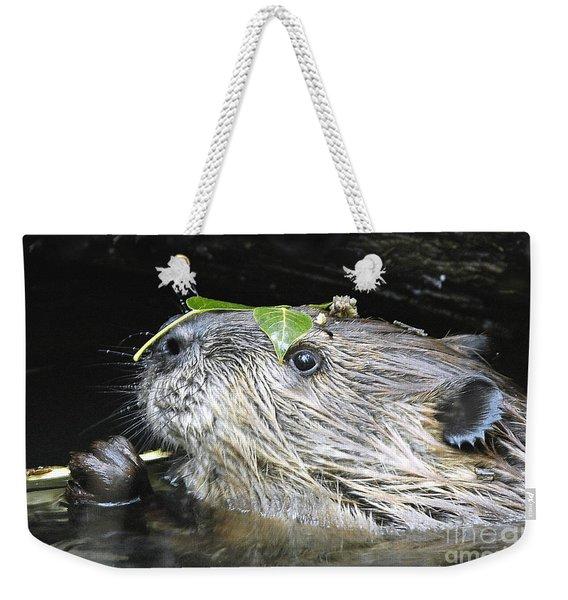 Busy Beaver Weekender Tote Bag
