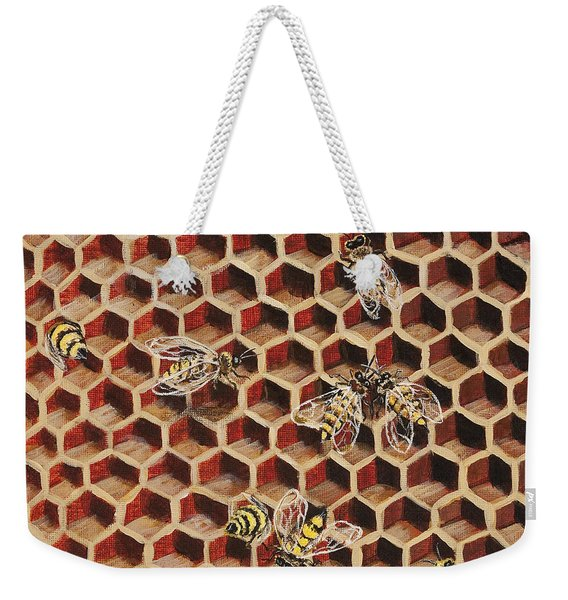 Busy Bee 3 Weekender Tote Bag