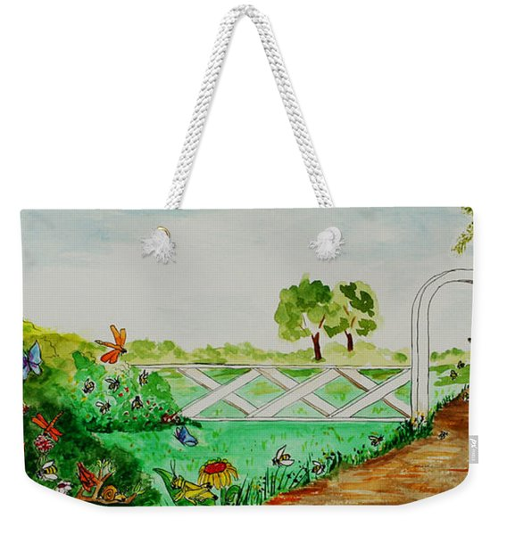 Busy Bee Garden Weekender Tote Bag