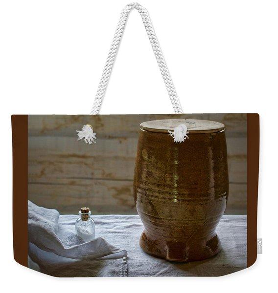 Butter Makers Crock And Salt Weekender Tote Bag