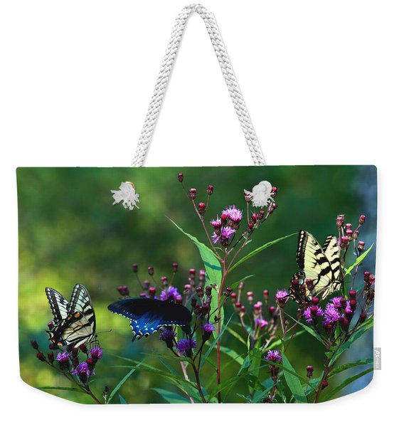 Butterflies Three Weekender Tote Bag