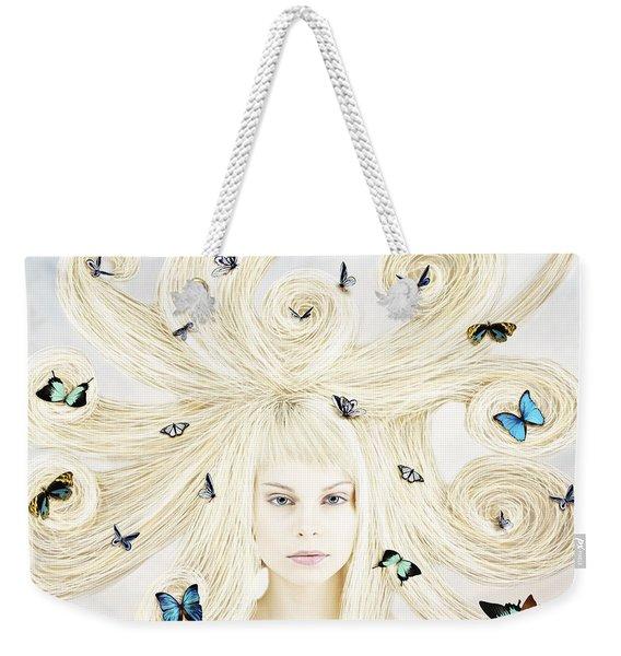 Butterfly Girl Weekender Tote Bag