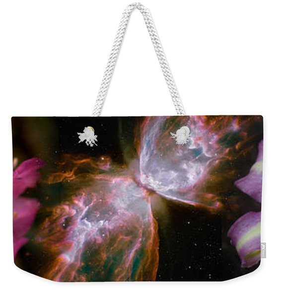 Butterfly Nebula With Iris And Pink Weekender Tote Bag