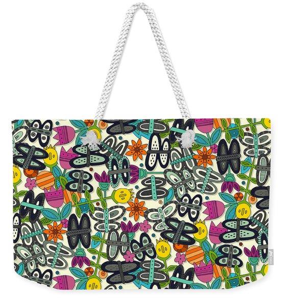 Butterfly Pop Garden Weekender Tote Bag