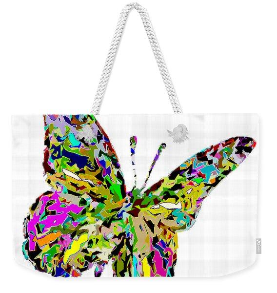 Butterfly Color Flutter Weekender Tote Bag