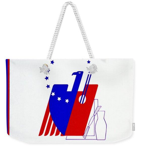 Buy American Week Art Nov 25 - Dec 1 1940  Weekender Tote Bag