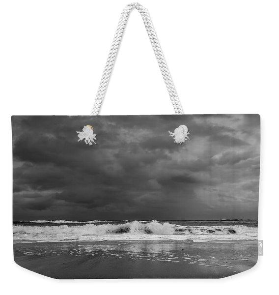 Bw Stormy Seascape Weekender Tote Bag