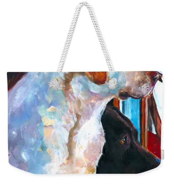 By My Side Weekender Tote Bag