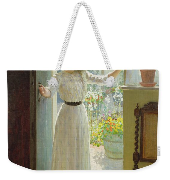 By The Cottage Door Weekender Tote Bag