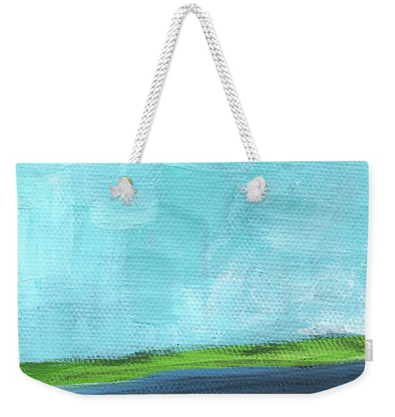 By The River- Abstract Landscape Painting Weekender Tote Bag