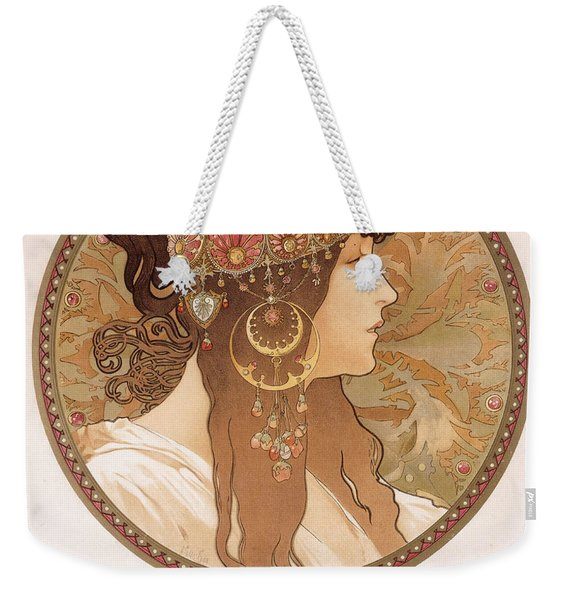 Byzantine Head Of A Brunette Weekender Tote Bag