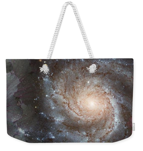 Cabbage With Galaxy And Pink Flowers Weekender Tote Bag