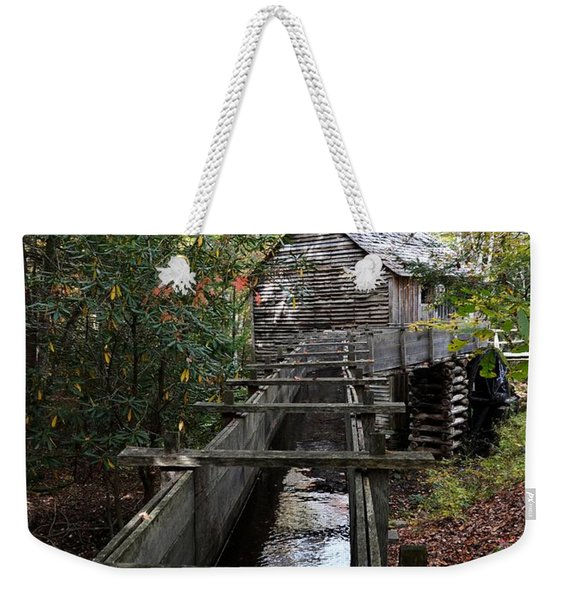 Cable Grist Mill 3 Weekender Tote Bag