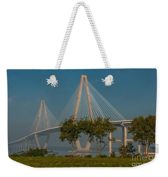 Cable Stayed Bridge Weekender Tote Bag